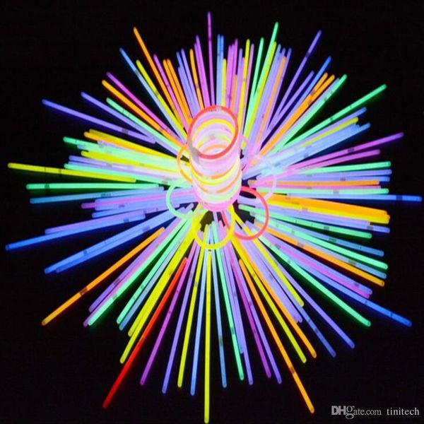Multi Color Glow Stick Bracelet Necklaces Neon Party LED Flashing Light Stick Wand LED Vocal Concert LED Flash Sticks