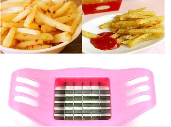 French Fry Potato Chip Cut Cutter Vegetable Fruit Slicer Chopper Chipper Blade Easy one step Kitchen Tools