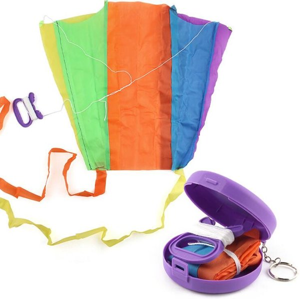 Cloth Kite with Rotating Line Pocket Flying Kite Toy Foldable Kite Outdoor Sports Toy Child Kids Educational Training Toys