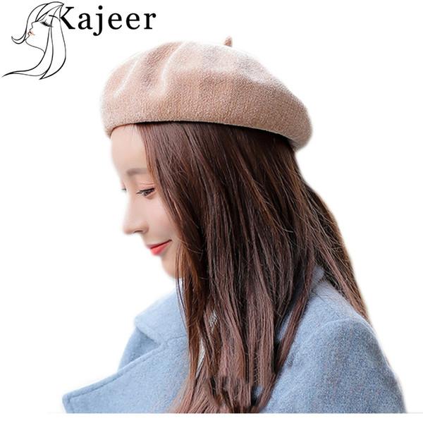 design intemporel 88e30 3f51a Acheter Kajeer Chapeau Femmes Cachemire Béret Femme Hiver Tricoté Laine  Bonnet Femme Couleur Unie Haut Adulte Casual Dame Chaud De $15.58 Du  Bojiban | ...