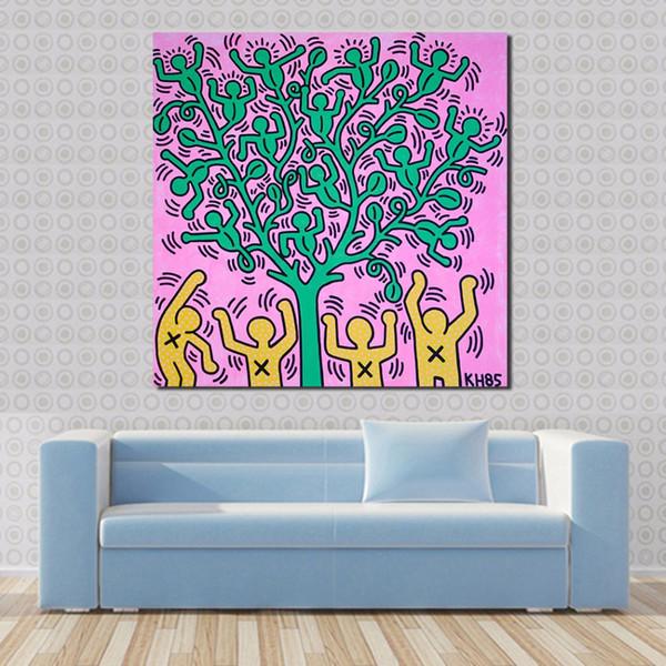 Acheter Keith Haring Milano Peinture à L Huile Wall Art Toile Décorative Salon Peinture Peinture Murale Photo No Frame De 23 67 Du Framedpainting