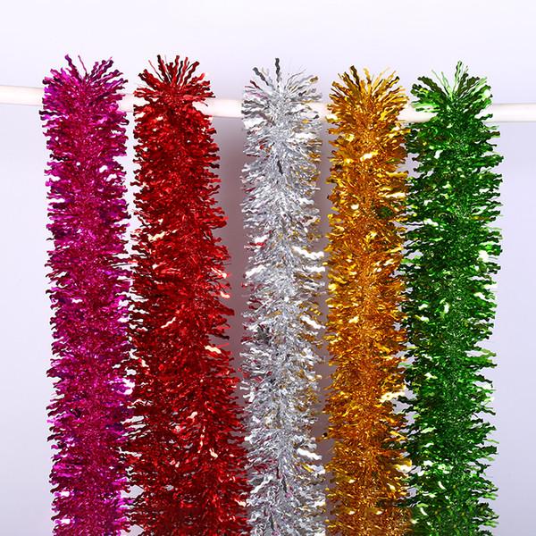 Breite 11 cm Wellenmuster Einfarbig Ornamente Girlande Band Lametta Hängende Dekorationen für Weihnachten Festival Party Hause