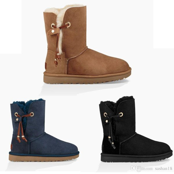 FREE SHIPPING 2018 SALE New Fashion Australia classic NEW Womens boots Bailey BOW Boots Snow Boots for Women boot