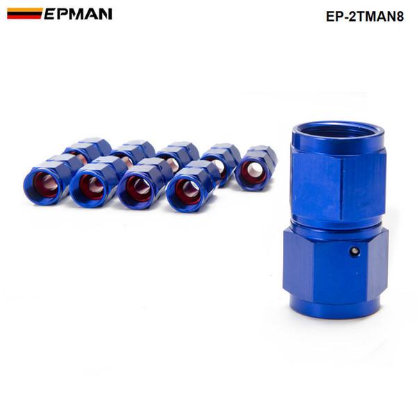 EPMAN - 10PCS/SET AN8 Fuel Oil Swivel Fitting Aluminum Hose End Adaptor 2 Side Female Fitting EP-2TMAN8