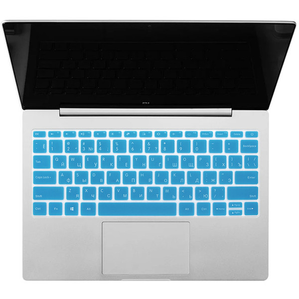 Silicone Russian Keyboard Cover for Xiaomi Mi Notebook .3 inch Laptop Keyboard Protective Film for Xiaomi 13 Blue Silver