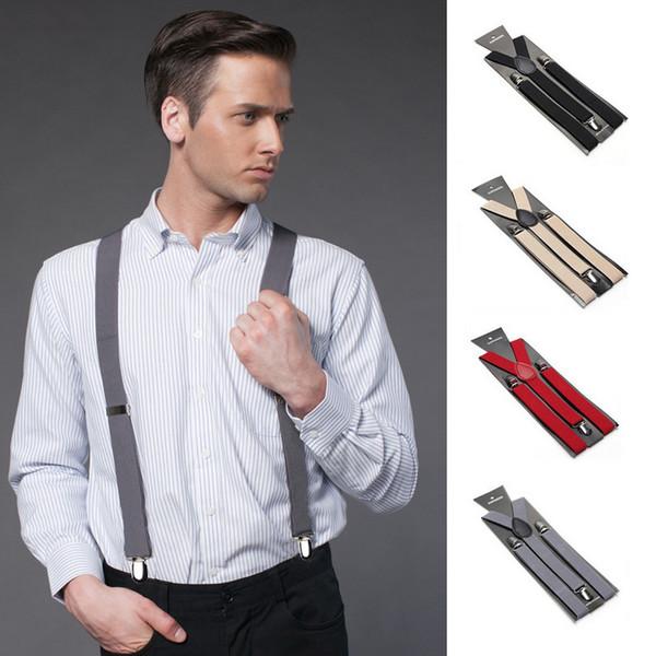 2.5X100CM Adjustable Women/Men Y-back Adult candy colors Suspenders 3 Clip-on Elastic braces Children Belts Children trousers Straps