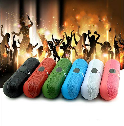 2017 new type JY-25 3D sound digital screen bluetooth pill speaker FM Potable Stereo Subwoofer with Mic Support Handsfree Call