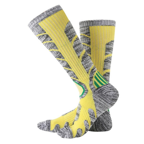 Hot Sell Men Women Thermal Ski Socks Thick Cotton Sports Snowboard Cycling Skiing Soccer Socks Long