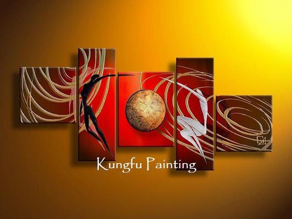 100% handpainted unframed 5 peça canvas art wall art canvas pintura boa decoração para casa presente