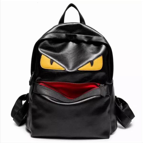 sacs à dos de femme de bande dessinée célèbre marque monstre designer femmes haute qualité lambrissé sac à dos en cuir souple vente chaude