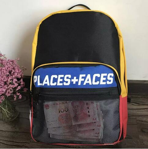PLACES+FACES Life Backpack Classic Men And Women Sports Outdoor Packs Black Travelling Bag Laptop Bag Sports Backpack Satchel Free Shipping