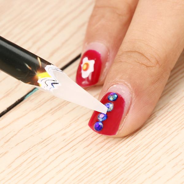 1PC New Useful Nail Wax Pen Rhinestones Bead Picker Wax Pencil Nail Art Manicure Dotting Tool Point Pen Beauty Tools