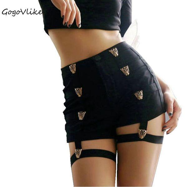 Women Sexy Rivet Bandage Shorts Summer dance Suspender shorts jazz cutout sexy high elastic waist performance Costume S50