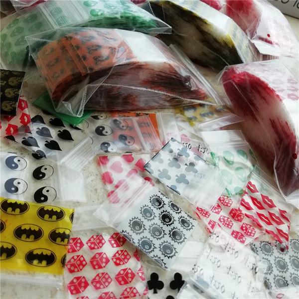 1010 Mini Zip lock Bags 100pieces Bag 30 Design Print baggies 1