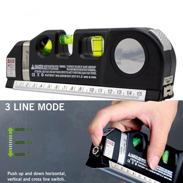 3 Bubbles Multipurpose Laser Level 10M Horizon Vertical Measure Tape Aligner Ruler infrared Cross Line Laser Level Tape Measure