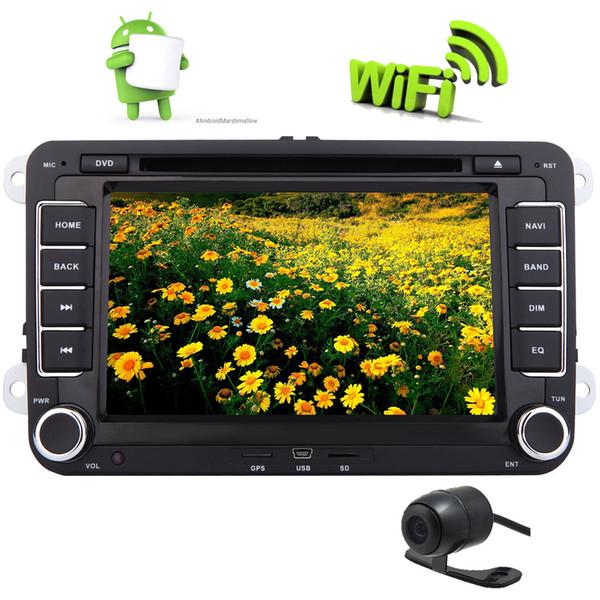Android 6.0 Car DVD Player Stereo Autoradio Double Din GPS Navigation 7'' Touchscreen Mirrorlink WiFi for VW PASSAT CC PASSAT Golf