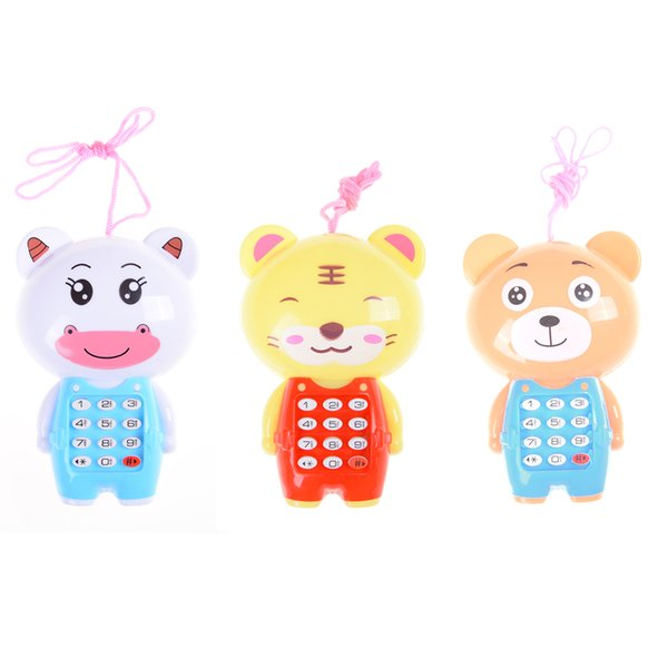 1PCS Baby Cute Cartoon Music Phone Toys Educational Learning Toy Phone Gift for Kids Children's Toys Random Color