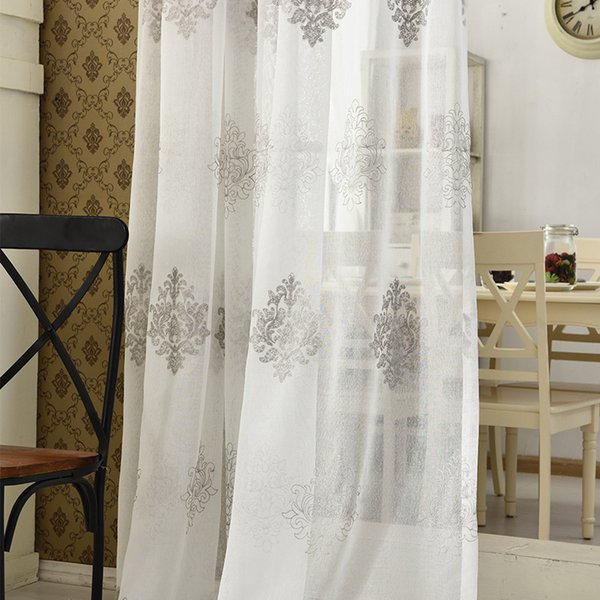 2019 Byetee High Quality Linen Embroidered Curtain Bedroom Window Tulle  Gauze Grey Voile Curtains For Living Room Curtain Finished From Cnone,  $28.71 ...