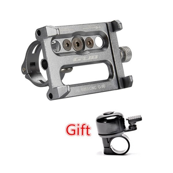 """GUB G-86 4-5.5"""" adjust Alloy CNC Bicycle phone Holder Bike mount Stand moto GPS telephone support Mount Cycling With gift"""