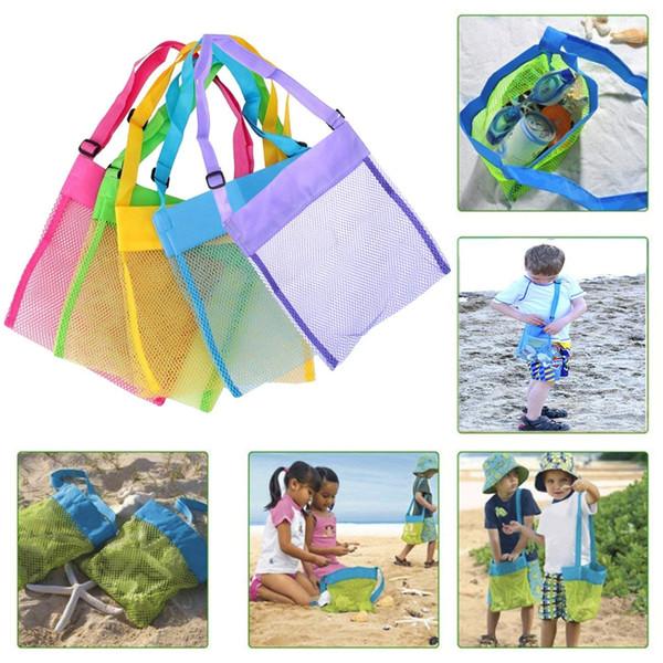 Kids Beach Toys Receive Bag Mesh Sandboxes Away All Sand Child Sandpit Storage Shell Net Sand Away Beach Mesh Pouch