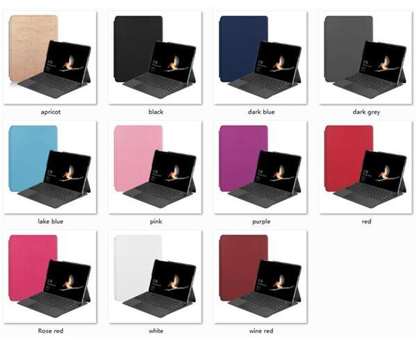 Funda magnética delgada del tirón del soporte Buena caja de cuero de la PU para la superficie de Microsoft Go Funda protectora de la piel de la tableta de 10 pulgadas 50pcs