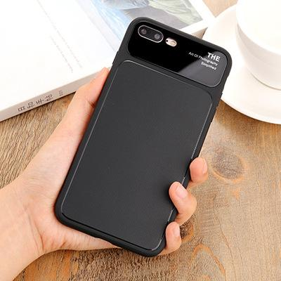 For iPhone X 7/8 7/8Plus 6/6Plus TPU Glass Phone Cases Non-Slip Frosted Cover Anti-Fingerprint Scratchproof Back Shell