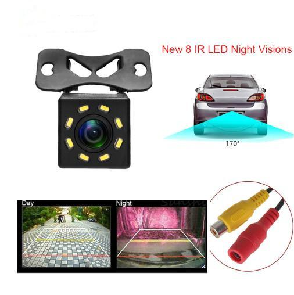 Auto Rückfahrkamera Universal Backup Parkplatz Kamera 8 LED Nachtsicht Wasserdicht 170 Weitwinkel HD Farbbild