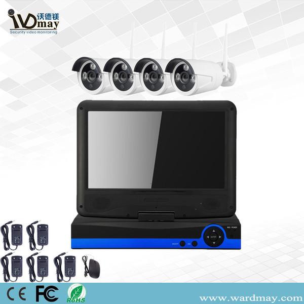 4chs 2.0MP CCTV HD sem fio Home Security Surveillance Camera WiFi NVR sistema de alarme com 10