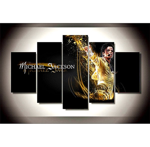 Michael Jackson -3,5 Pieces The Latest Most Popular High-definition Canvas Printed Home Decorative Art/ Unframed / Framed