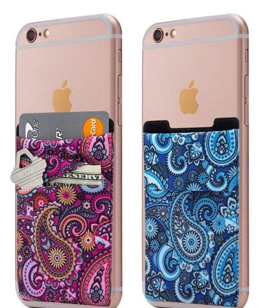 Smartphone Skin Billig Oem Stoff Visitenkartenhalter Lycra 3m Aufkleber Visitenkartenhalter Telefon Brieftasche Id Kreditkarteninhaber Für Smart