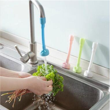 4 Colors Solid Color Kitchen Shower Nozzle Rotary Anti Splash Tap Water Valve Mouth Filter Kitchen Water-saving Faucet CCA8956 200pcs