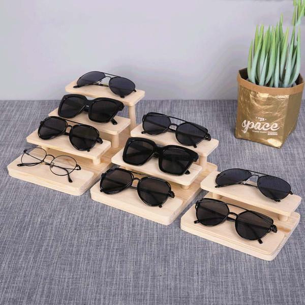 New Fashion Multi Tier Wood Makeup Organizer Nail Polish Display Cosmetic Stand Plastic Jewelry Toy Storage Glasses Rack