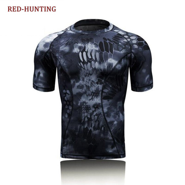 Quick Dry Compression Men's Short Sleeve T-Shirts Running Shirts Fitness Tight Tennis Soccer Jersey Gym Sportswear