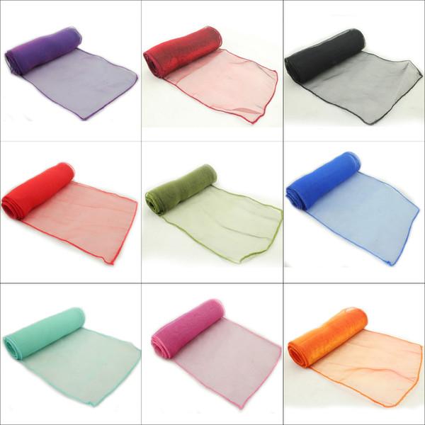 Il nuovo disegno dei 25 pc Mint Green Wedding Organza della sedia della copertura dei telai telaio della festa di banchetto Decor Bow Menta colore verde con spedizione gratuita