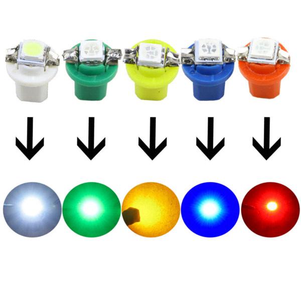 10 pcs Vert B8.5D 509T B8.5 5050 Led 1 SMD T5 Lampe Auto Wedge Jauge De Voiture Dash Bulb Dashboard Instrument Lumière 12 V Car Styling