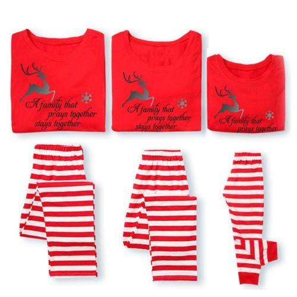 18701b9d85 2019 Fairy XMAS Family Matching Christmas Pajamas Set Men S Women ...