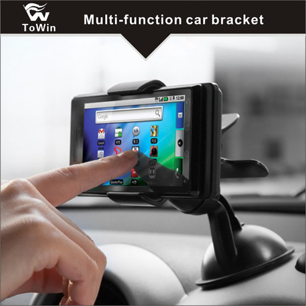 Multi-function 360° Rotation Cell Phone Holder Car Interior Accessories Gadgets Suitable for Mobile Phones/Tablets/GPS