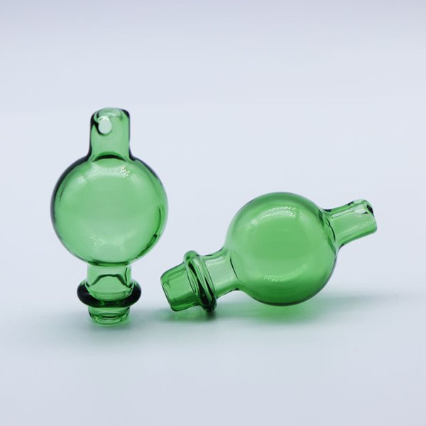 Glass Carb Cap with Side Hole 25mmOD Bubble For Quartz Ball Insert Thick Bottom Quartz Thermal Banger Nails Glass Bongs Smoking Pipes