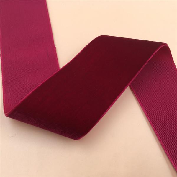 "best selling 1.5"" 3.8CM 38mm Wine Burgundy Color Single Face Velvet Ribbon velour ribbons webbing DIY accessories 12yards"
