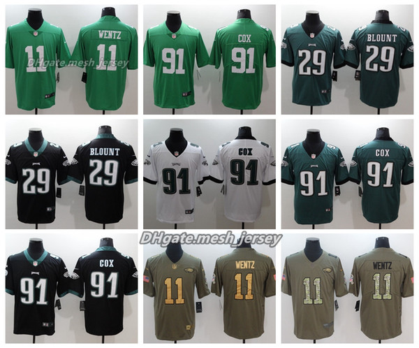check out f8dbc e8877 2019 Men Philadelphia Jersey Eagles 11 Carson Wentz 13 Nelson Agholor 29  Avonte Maddox 91 Fletcher Cox Color Rush Football Stitching Jerseys From ...