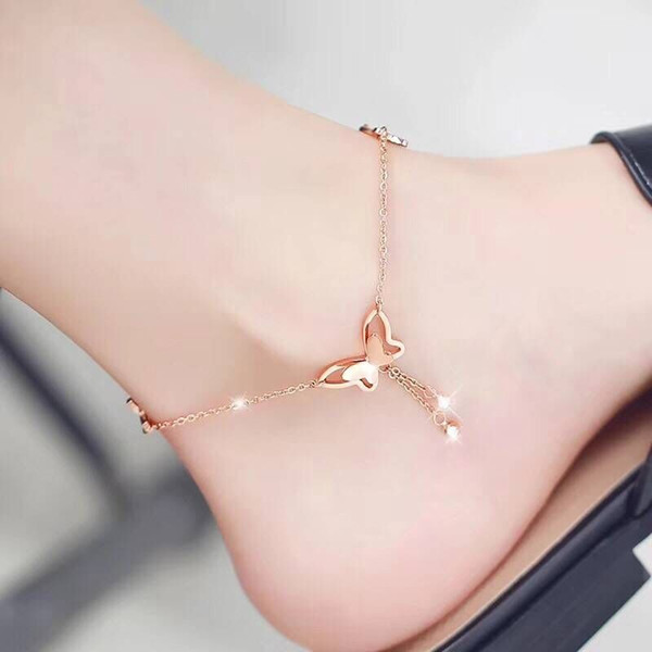 Cheap Barefoot Sandals For Wedding Shoes Sandel Anklet Chain Hottest Stretch Gold Toe Ring Beading Wedding Bridal Bridesmaid Jewelry Foot