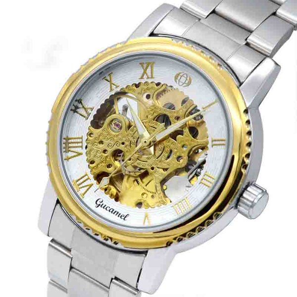 wengle New GUCAMEL Men Upscale Hollow Selling fashion Commerce Automatic luxury gift dress casual Belt Mechanical watches