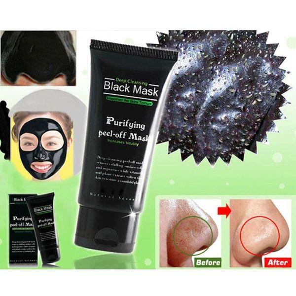 Deep Cleansing Purifying Peel Off Mud Blackhead Face Mask Black Mask Remove Black Head Makeup Beauty 50g