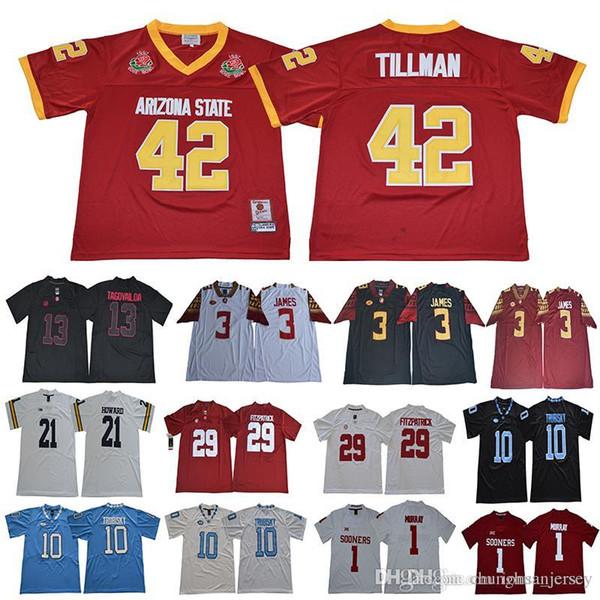 1997 Rose Bowl Arizona-Staat Sun Devis Pat Tillman 42 Derwin James 3 Mitch Trubisky 10 Murray 1 Minkah Fitzpatrick 29 Fußballtrikots
