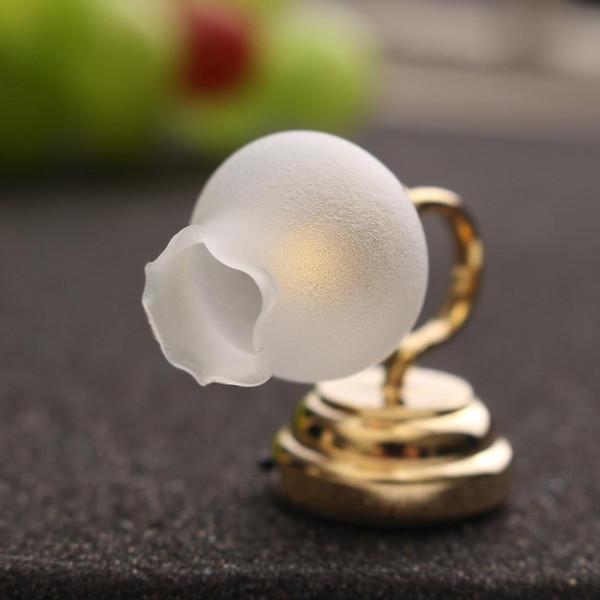 1:12 Mini Metal Glass LED Flower Night Light Miniature Lamp Novelty Lighting For Kids DIY Doll House Toy Wedding Gift Home Decor