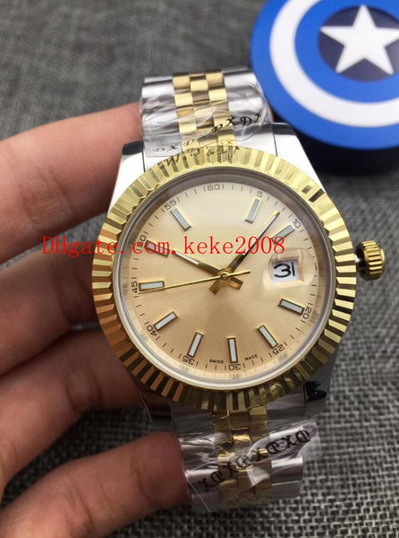 5 color luxury wri t watch dateju t 116334 18k gold teel two tone a ia 2813 movement mechanical automatic men watche