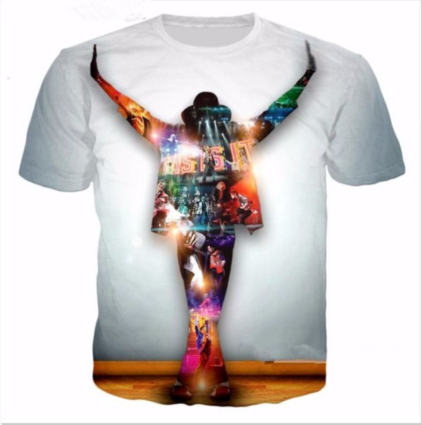 Summer Style Newest Fashion Mens/Womens King of pop Michael Jackson Funny 3D Print Casual T-Shirt ABCQ00108