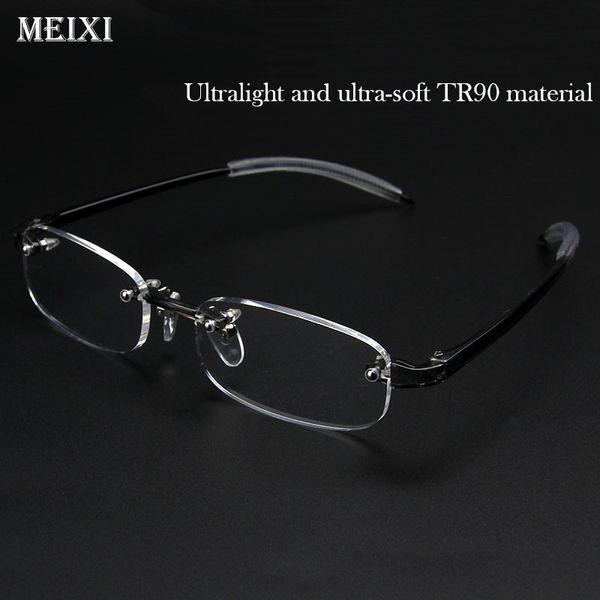 Rimless TR90 frame Nearsighted glass Ultralight Boxed Shortsighted Myopia glasses Women Men -1.0 -1.5 -2 -2.5 -3 -3.5 -4