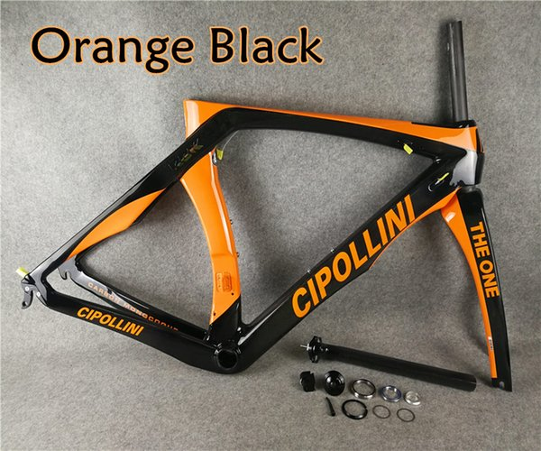 T1000 MCipollini RB1K THE ONE Orange Black carbon road frames Cipollini with BB86 3K/UD/1K Matte Glossy for selection free shipping