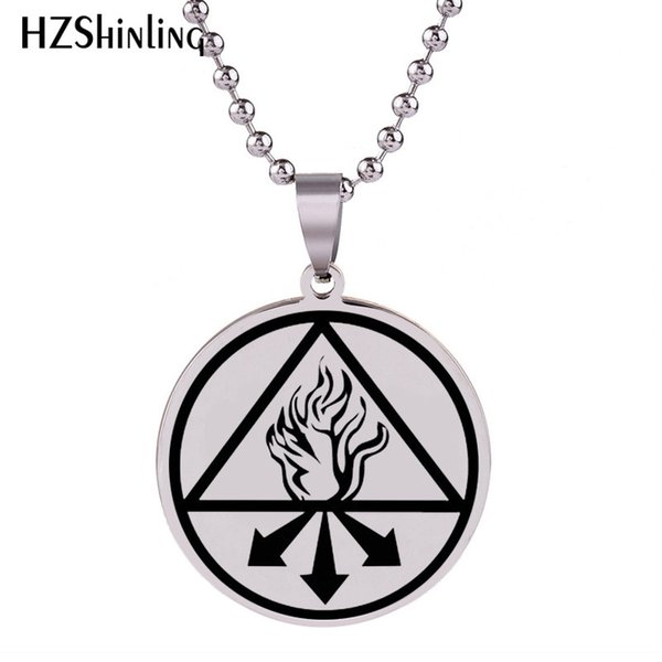 2018 New Sulfur Of The Philosophers Pendant Hand Craft Stainless Steel Necklace Pendants Silver Jewelry Ball Chain